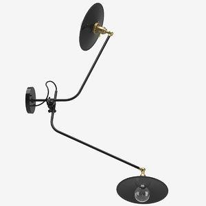 3D workstead bent wall lamp