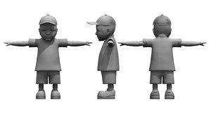 3D cute boy model