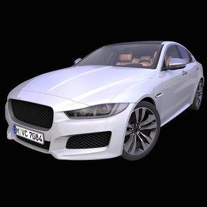 3D model generic european sedan