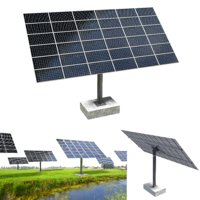 sun following pv solar panel array 3D model