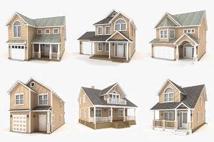 3D hi-poly cottages vol 8 model