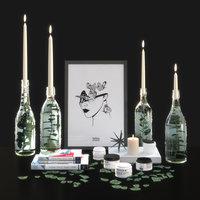 Decorative set with candlesticks