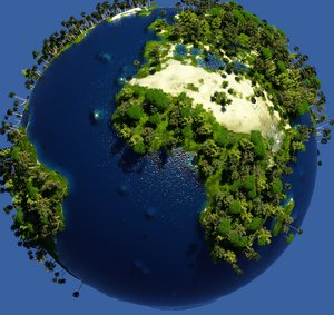 green earth trees model