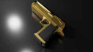 gold desert eagle 3D model