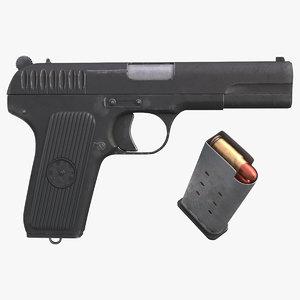 tt-33 pistol gun model