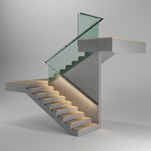 3D minimalism staircase step