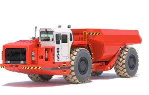 underground mining truck sandvik 3D model