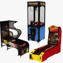 3D model arcade machine basketball
