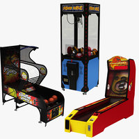 3D model arcade machine basketball