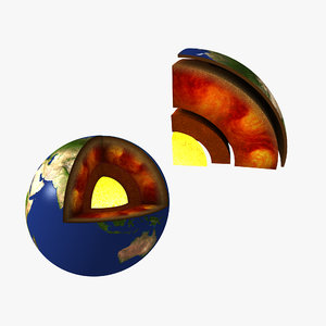 3D earth core layers