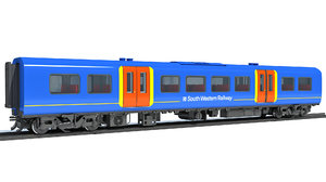 british train passenger car 3D