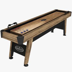 3D shuffle board