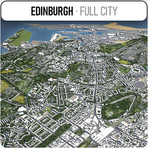 city edinburgh surrounding - 3D model
