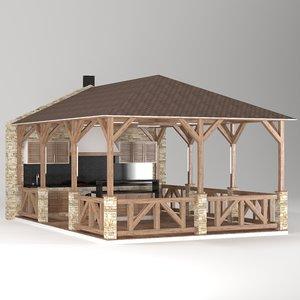 3D architecture gazebo