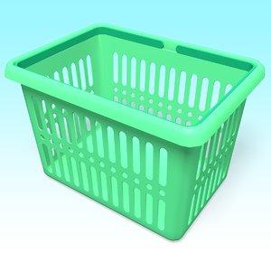 3D model plastic basket
