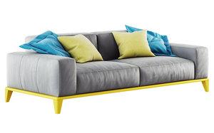3D model nicoline sofa trevor