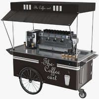Coffee Cart With Coffee Makers