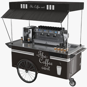 3D coffee cart