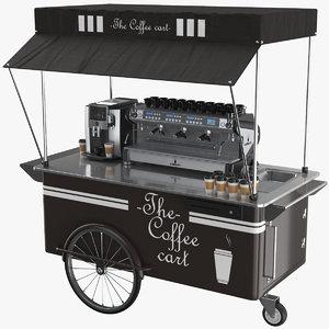3D coffee cart