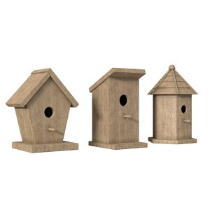 3D birdhouses outdoor model