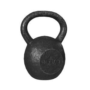3D kettlebell fitness weight model