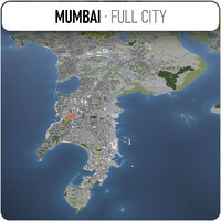 3D city mumbai surrounding -