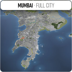 3D city mumbai surrounding -