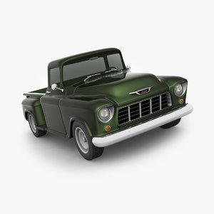 chevrolet truck 1955 3D