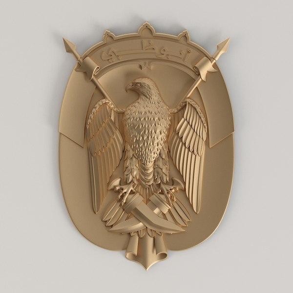 coat arms abu dhabi 3D