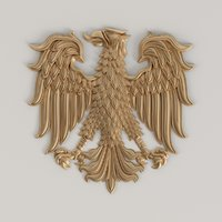 3D model of the coat of arms of the eagle | Gb-008