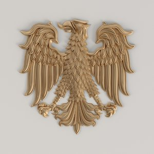 coat arms eagle 3D