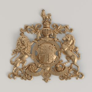 coat arms great britain 3D model