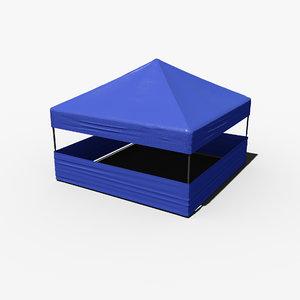 3D realistic tent 5x5 meters