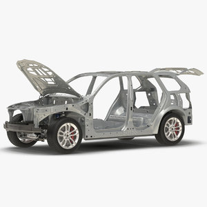 suv frame chassis 3 3D model