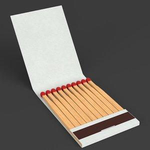 book matches 3D model
