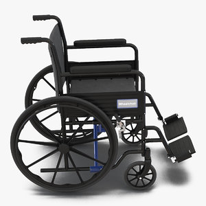 wheelchair rigged generic 3D