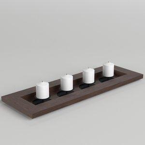 candles decoration 3D model