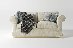 two-seat sofa 3D model