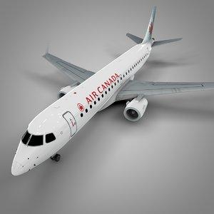 air canada embraer190 l564 3D