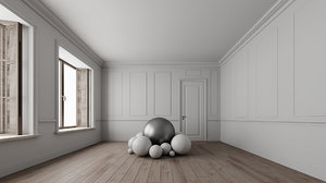 room multiple rendering lighting scenes 3D