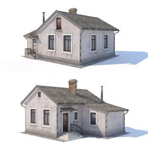 3D houses architecture building model