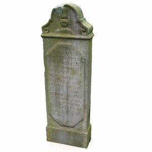 3D model tombstone gravestone grave