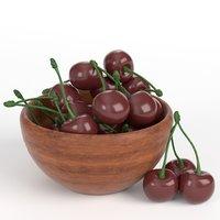 3D cherries bowl