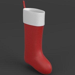 christmas stocking 3D