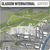 glasgow airport - gla 3D model