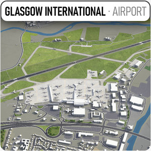 glasgow airport - gla 3D model