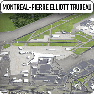 montreal-pierre elliott trudeau international 3D