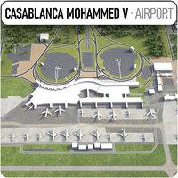 casablanca mohammed v international 3D model