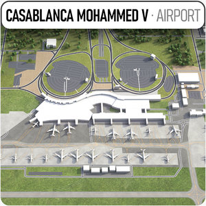 casablanca mohammed v international 3D model