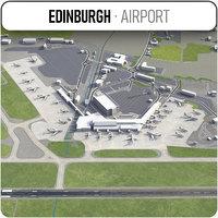 3D model edinburgh airport - edi